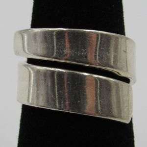Vintage Size 6 Sterling Rustic Wrap Around Ring